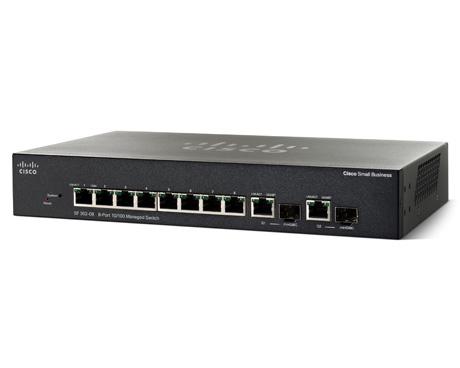 Cisco SF 302-08 Managed L3 Zwart 1U