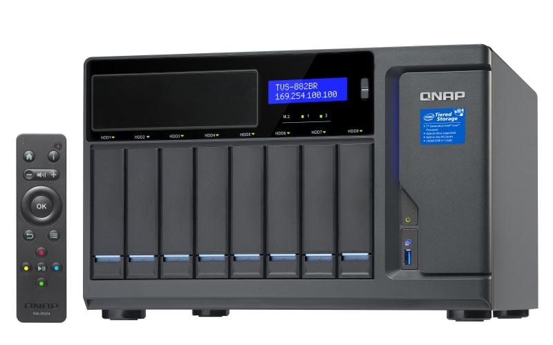 QNAP TVS-882BR NAS Desktop Ethernet LAN Black - MicroK12