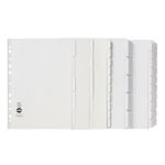 MARBIG DIVIDERS MARBIG A4 MANILLA 5 TAB REINFORCED STRIP WHITE(EACH)