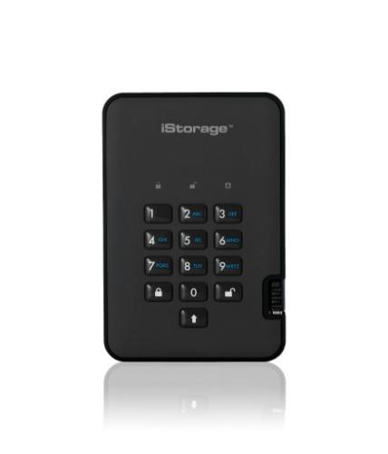 iStorage diskAshur2 256-bit 128GB USB 3.1 secure encrypted solid-state drive - Black IS-DA2-256-SSD-128-B