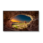 "NEC MultiSync V554 signage display 55"" LCD Full HD Digital signage flat panel Black"