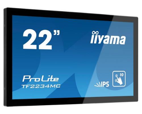 "iiyama ProLite TF2234MC-B6X touch screen monitor 54.6 cm (21.5"") 1920 x 1080 pixels Black Multi-touch Multi-user"