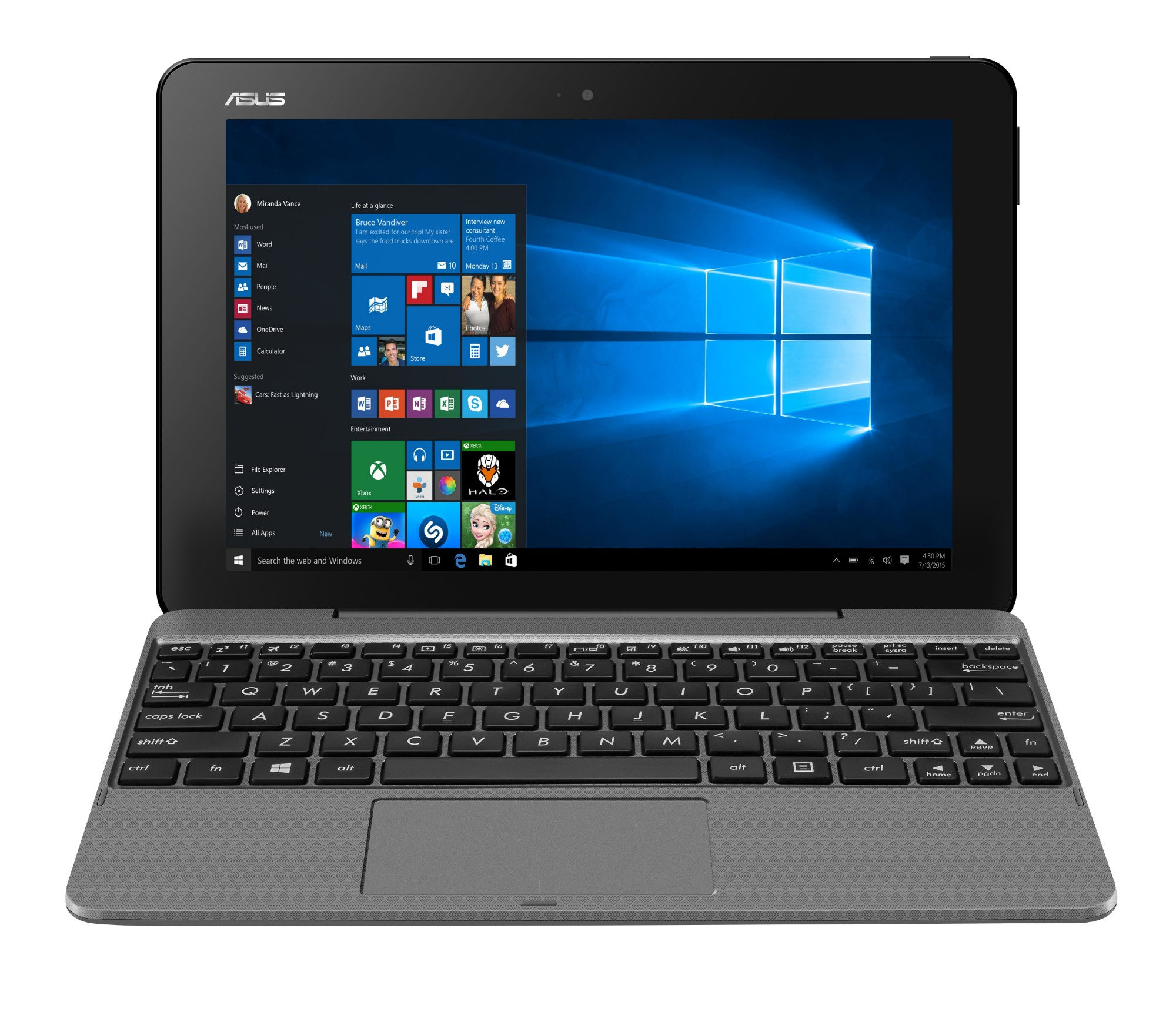 "ASUS Transformer Book T101HA-GR029R 1.44GHz x5-Z8350 10.1"" 1280 x 800pixels Touchscreen Grey Hybrid (2-in-1)"