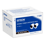 Epson C13S050751 (0751) Toner black, 7.3K pages, Pack qty 2