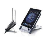 "Newstar Portable Laptop and Tablet Desk Stand - Silver. Tiltable desk stand suitable for laptops up to 22"" a"