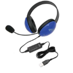 Ergoguys 2800BL-USB Binaural Head-band Black,Blue headset