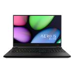 """Gigabyte AERO 15 OLED XB-8UK51B0SP Notebook Black 39.6 cm (15.6"""") 3840 x 2160 pixels 10th gen Intel® Core™ i7 16 GB DDR4-SDRAM 512 GB SSD NVIDIA GeForce RTX 2070 Super Wi-Fi 6 (802.11ax) Windows 10 Pro"""