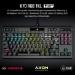 Corsair K70 RGB TKL Mechanical Gaming Keyboard, Backlit RGB LED, CHERRY MX SPEED Keyswitches, Black