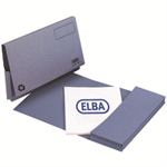 Elba Document Wallet Half Flap 285gsm Capacity 30mm A4 Blue Ref 100090129 [Pack 50]
