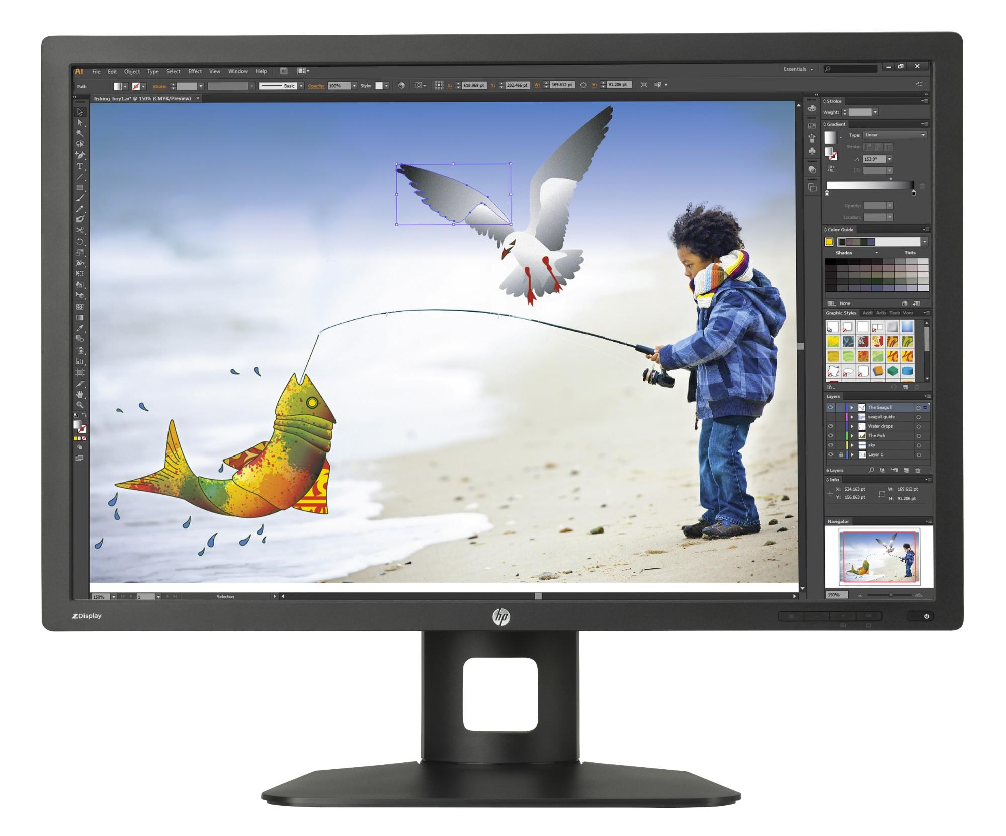"""HP Z30i 30"""" IPS Matt Black computer monitor"""