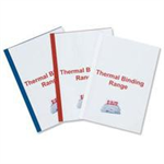 GBC Standard Thermal Binding Covers 6mm White (25)