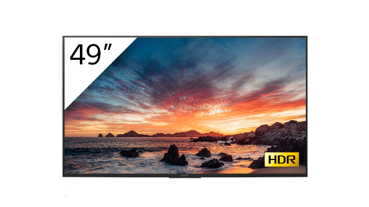 "Sony FWD-49X80H/T pantalla de señalización 123,2 cm (48.5"") IPS 4K Ultra HD Pantalla plana para señalización digital Negro Procesador incorporado Android 9.0"