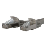 StarTech.com Cat6a patch cable - shielded - 3 ft, gray