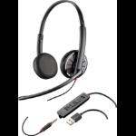 Plantronics Blackwire C325-M Stereo 3.5 mm Binaural Head-band Black headset