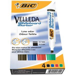 BIC Velleda Whiteboard Marker 1751 Chisel tip Black,Blue,Green,Red 4pc(s) marker
