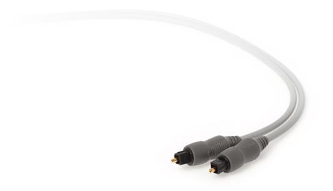 Techlink 1m Toslink/Toslink 1m TOSLINK TOSLINK Grey fiber optic cable
