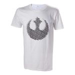 Star Wars Adult Male Rebel Logo T-Shirt, Medium, White (TS504390STW-M)