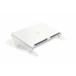 BakkerElkhuizen FlexDesk 630N Acrylic Transparent,White document holder