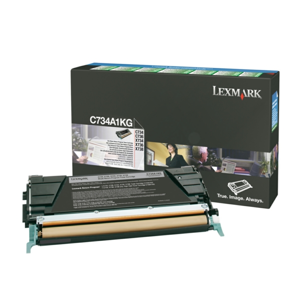 Lexmark C734A1KG Toner black, 8K pages