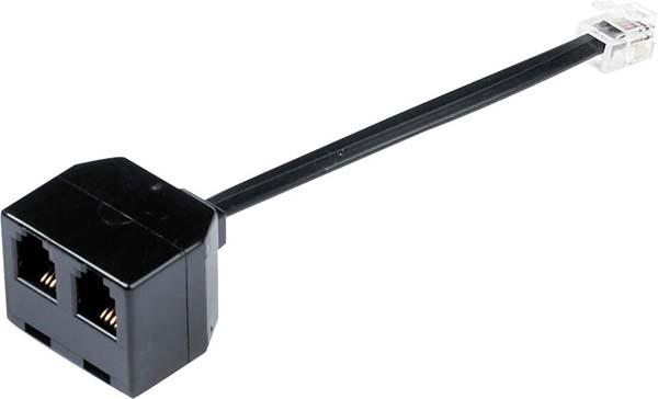 Jabra 1600-289 cable interface/gender adapter RJ10 2xRJ10 Black