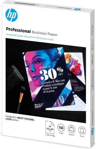 HP 3VK91A printing paper A4 (210x297 mm) Gloss 150 sheets White