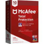 McAfee Total Protection 10 license(s) 1 year(s)