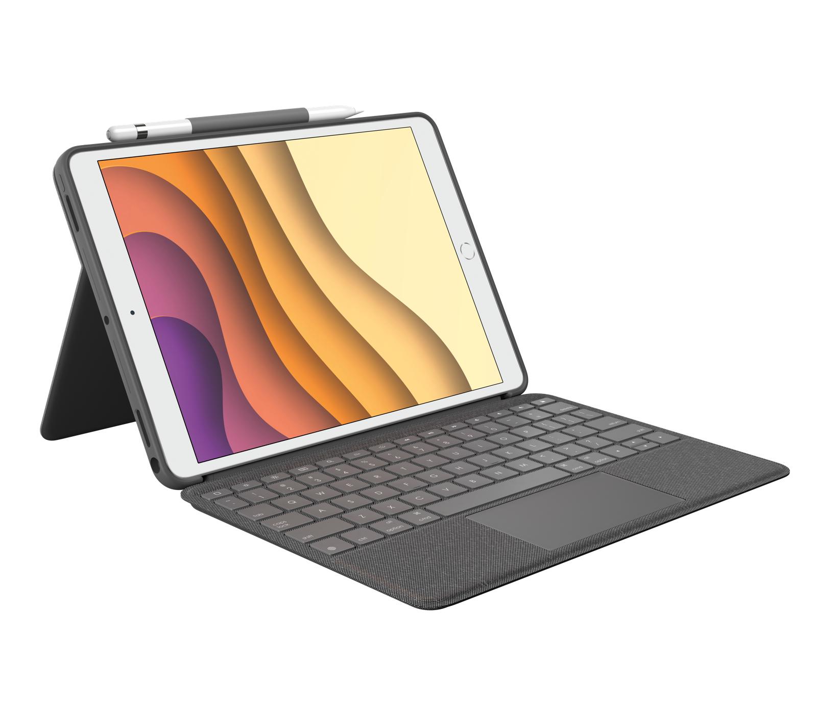 Logitech Combo Touch teclado para móvil QWERTY Finlandés, Sueco Grafito Smart Connector