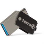 Wortmann AG TERRA USThree USB flash drive 64 GB USB Type-A / USB Type-C 3.2 Gen 1 (3.1 Gen 1) Black