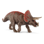 SCHLEICH Dinosaurs Triceratops Toy Figure, 4 to 12 Years, Brown/Red (15000)