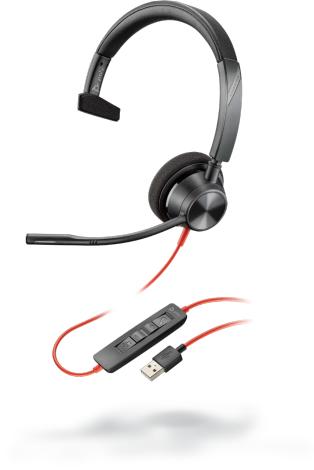 POLY Blackwire 3310 Auriculares Diadema Negro