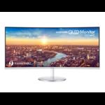 "Samsung C34J791WTU 34"" UltraWide Quad HD Curved Grey computer monitor LC34J791WTUXEN"