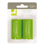Q-CONNECT 2 x D Single-use battery Alkaline