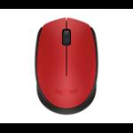 Logitech 910-004639 RF inalámbrico Óptico Mano derecha Rojo ratone