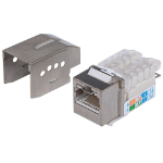 Intellinet Keystone Jack, Cat6, FTP, Tooless, Locking Function, Metallic