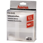 Hama CD/DVD Protective Sleeves, Pack of 100 100 discs Transparent