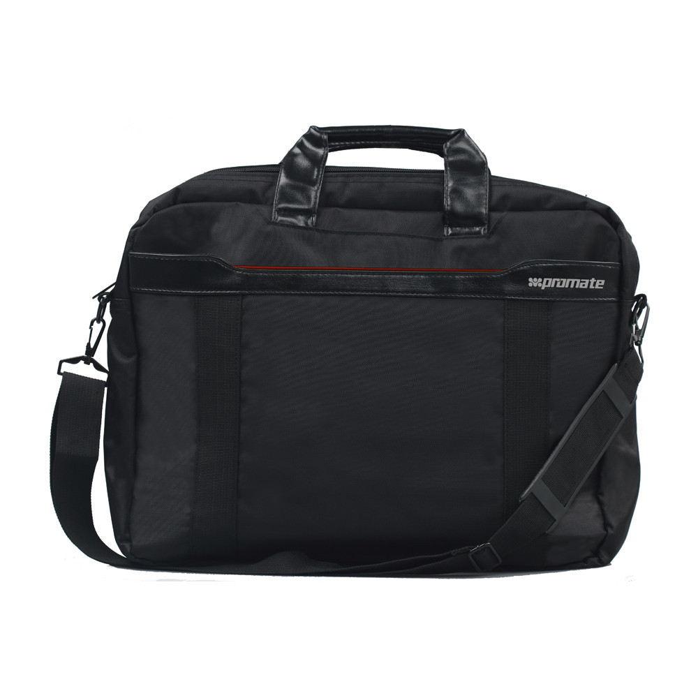 """Promate """"Solo"""" Lightweight Messenger Bag with Front Storage Option for Laptops up to 15.6"""" and Comfo"""
