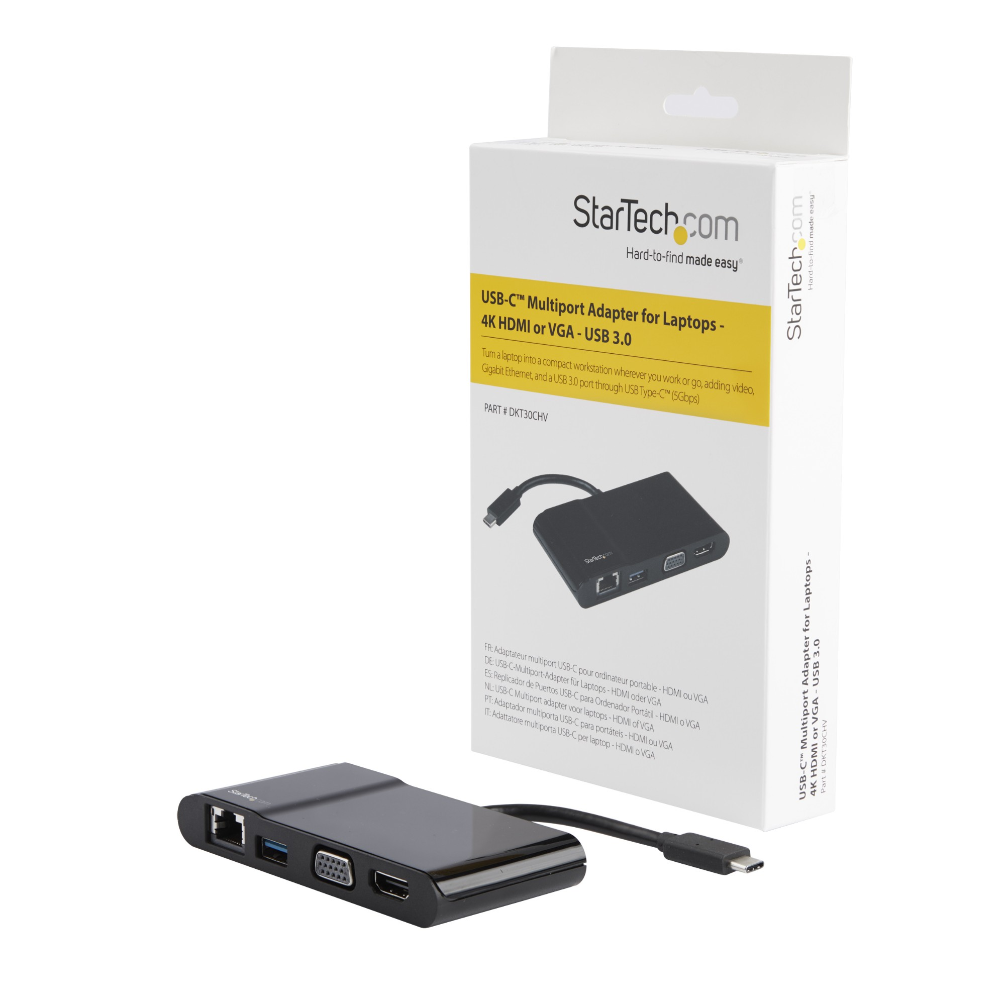 StarTech com USB-C Multiport Adapter for Laptops - 4K HDMI or VGA - GbE -  USB 3 0