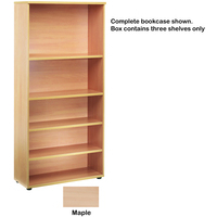 FF Jemini Open Storage Shelf Maple