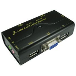 NEWLINK KVM SWITCH, 2 PORT USB/VGA