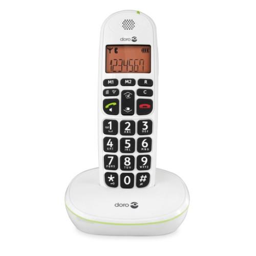 Doro PhoneEasy 100w DECT telephone Caller ID White