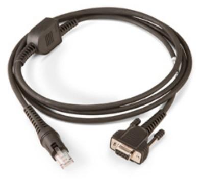 Intermec SR31-CAB-R001 cable de serie Negro 2 m RS232