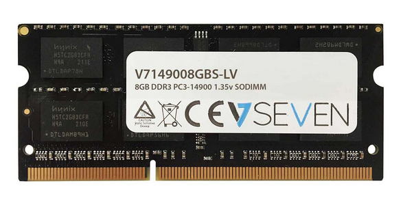 V7 8GB DDR3 PC3-14900 - 1866mhz SO DIMM Notebook Memory Module - V7149008GBS-LV