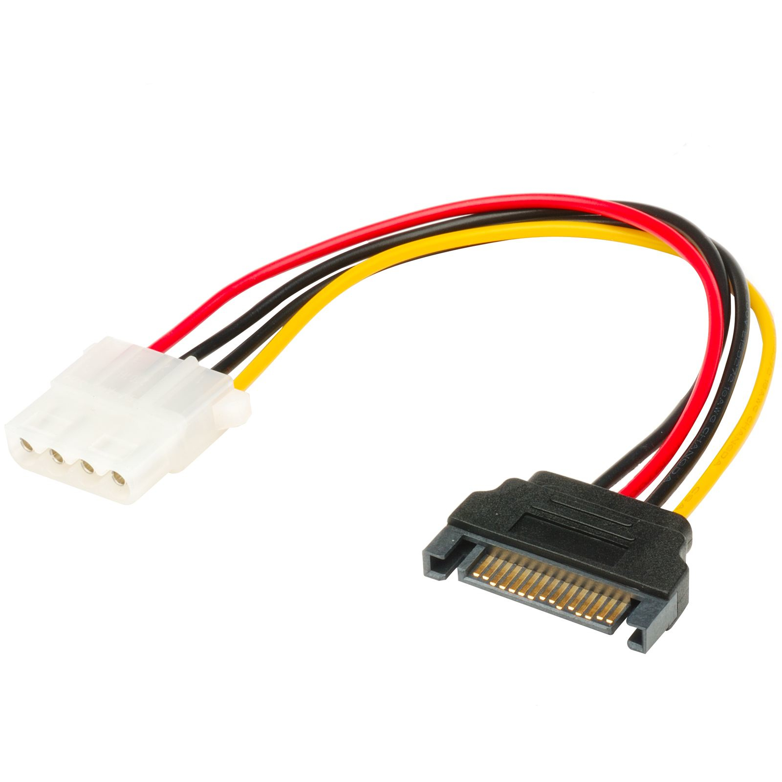 Akasa SATA to 4pin Molex adapter 15pin SATA Multicolor