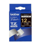 Brother Gloss Laminated Labelling Tape - 12mm, Gold/Black label-making tape TZ