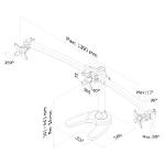 Newstar FPMA-D700DD3 Flat panel Tischhalter 68,6 cm (27 Zoll) Schwarz