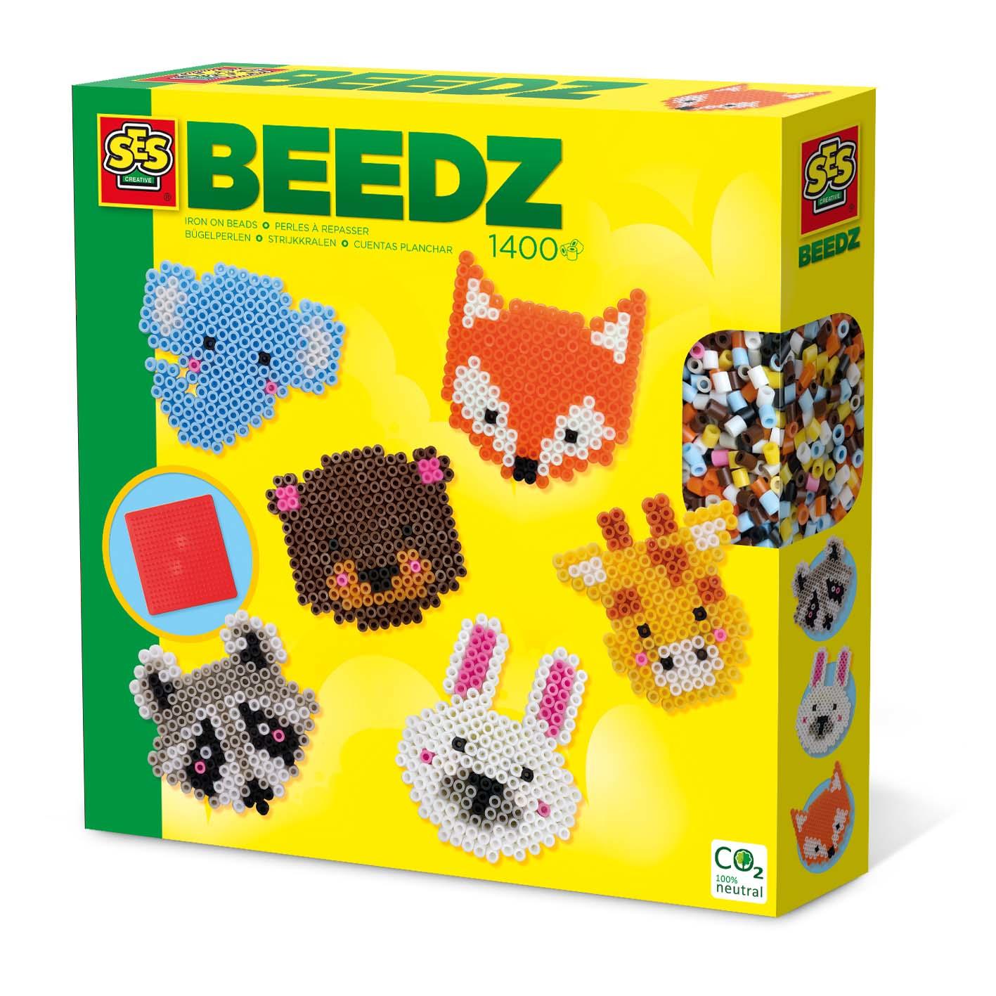 SES Creative Beedz Iron on beads - Cute animals