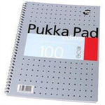 Pukka Editor Notebook Wirebound Perforated Ruled Margin 4-Hole 80gsm 100 Pages A4 Ref EM003 [Pack 3]