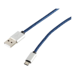 Innovation IT 204620 USB cable 0.3 m 2.0 USB A Micro-USB B Blue
