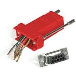 C2G RJ45/DB9M Modular Adapter RJ45 DB9 M Red cable interface/gender adapter