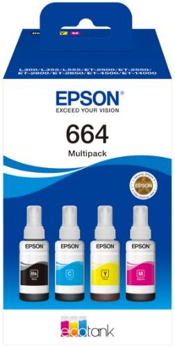 Epson C13T664640 (664) Ink cartridge multi pack, 1x4500pg + 3x7500pg, 70ml, Pack qty 4